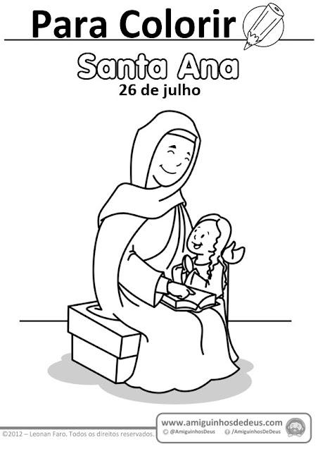 Santa Ana avó de jesus desenho para colorir