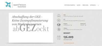 Abschaffung der GEZ-Gebühren