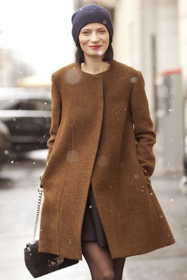 Fashion Winter trend: collarless coats