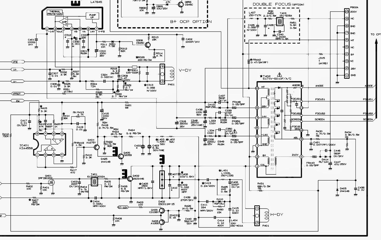 tv repair schematics diagram