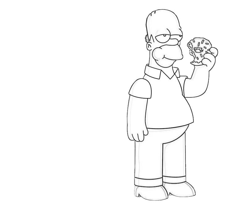 homer-simpson-eat-coloring-pages
