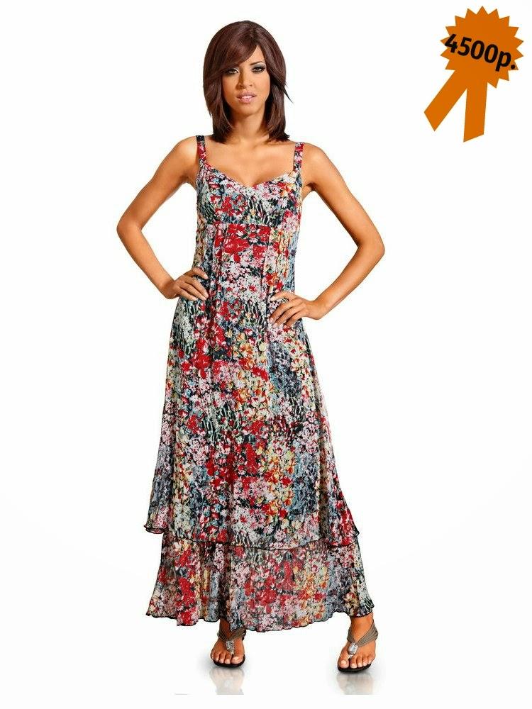 Летнее макси платье Tesini с цветочным принтом от Heine