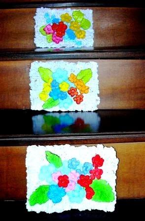 HIASAN DINDING  kerajinan tangan daur ulang bubur kertas (HVS) bekas,  recycle handicraft