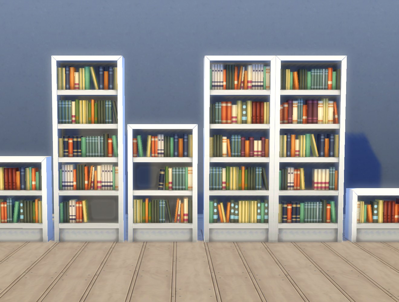 """Very Impressive portraiture of My Sims 4 Blog: Single Tile """"Intellect"""" Bookcases by Plasticbox with #A55926 color and 1320x1000 pixels"""