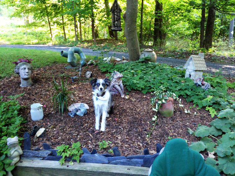 garden ornament statue gnome canine