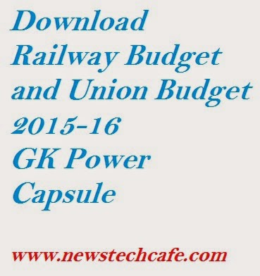 Download Railway Budget and Union Budget 2015-16 Bankersadda GK Power Capsule
