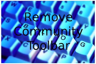 entfernen Community Toolbar