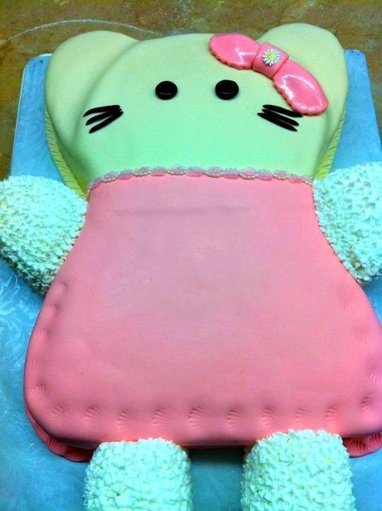 Hello kitty hello kitty cake kitty is made out of fondant thank you