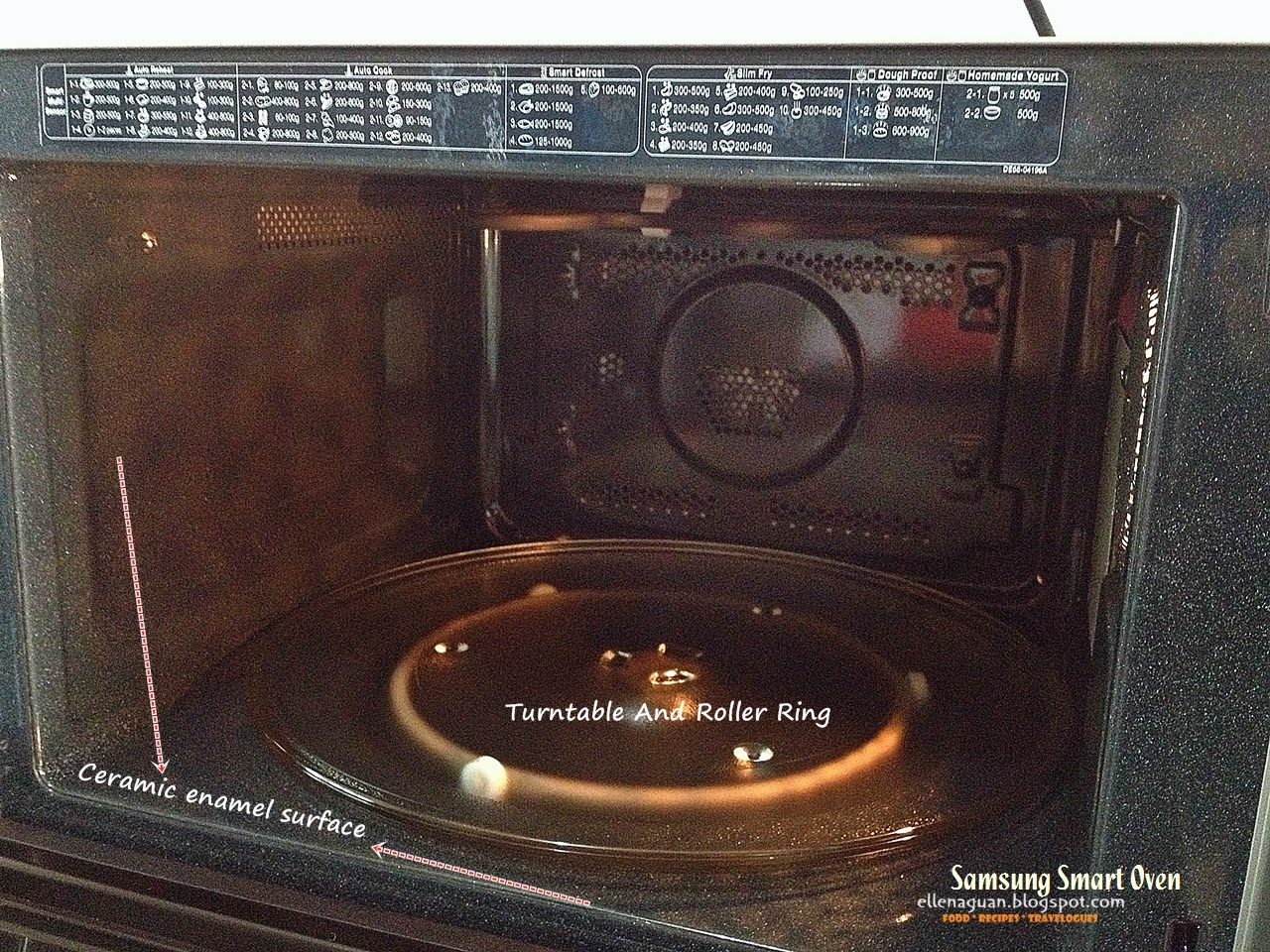 The Interior Of The Samsung Smart Oven Is Designed With Convenience In Mind  Using Ceramic Enamel Surface Which Provides A Durable Interior That Allows