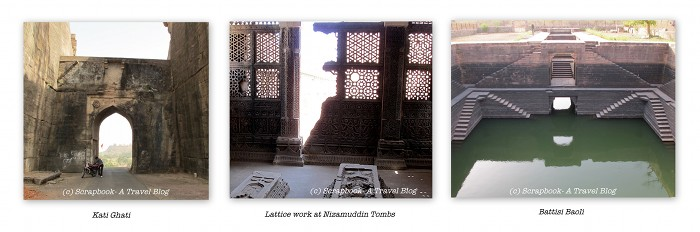 kati ghati nizamuddin tomb battisi baoli