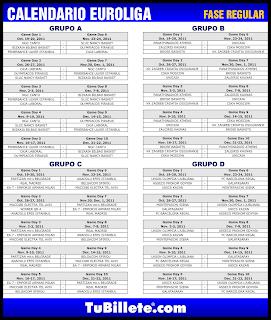 Calendario Euroliga 2011-2012