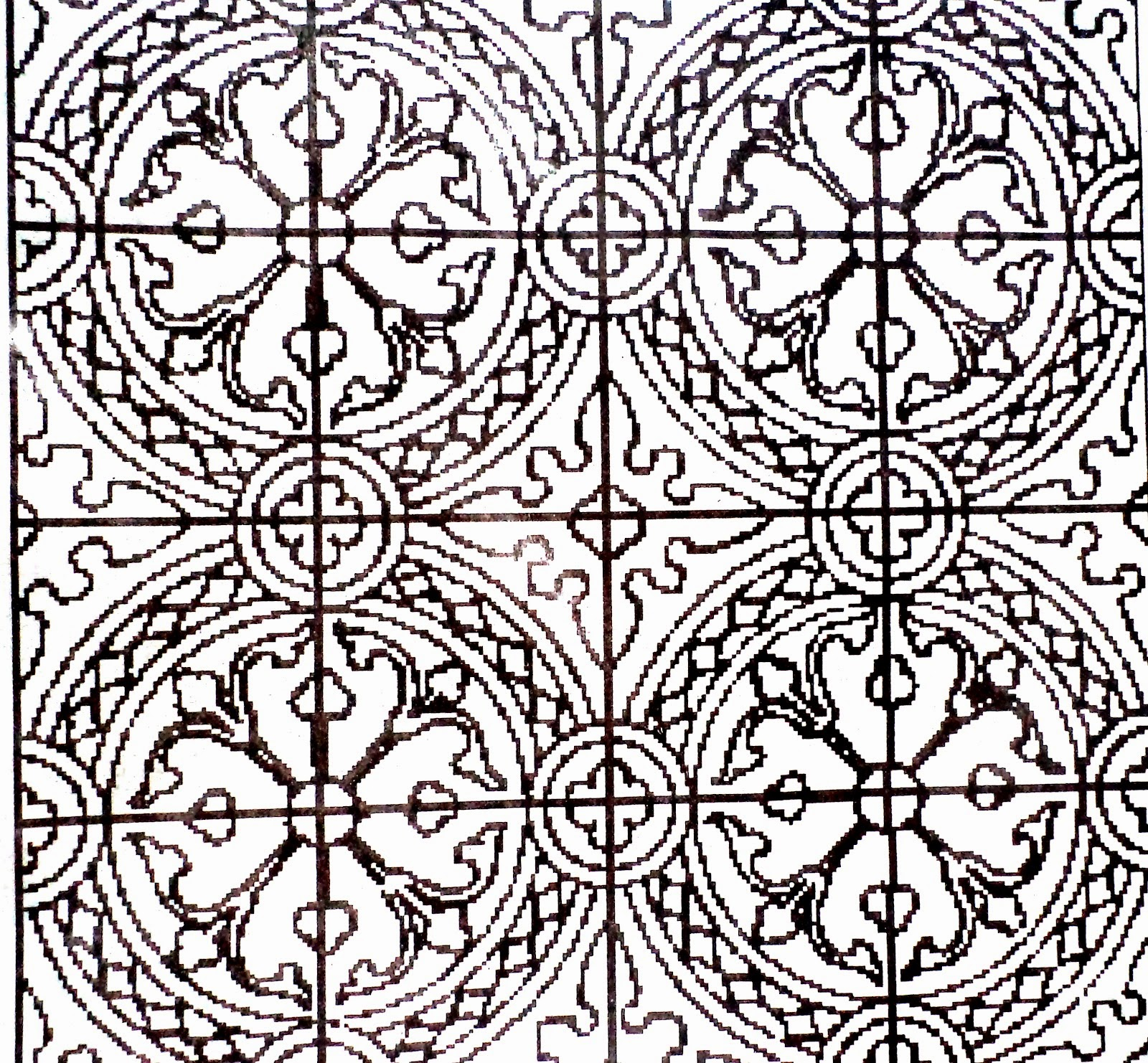 Contoh Gambar Ragam Hias Geometris: