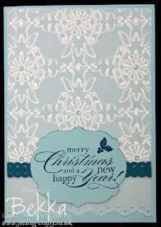 Embossed Velum Christmas Card by Bekka www.feeling-crafty.co.uk