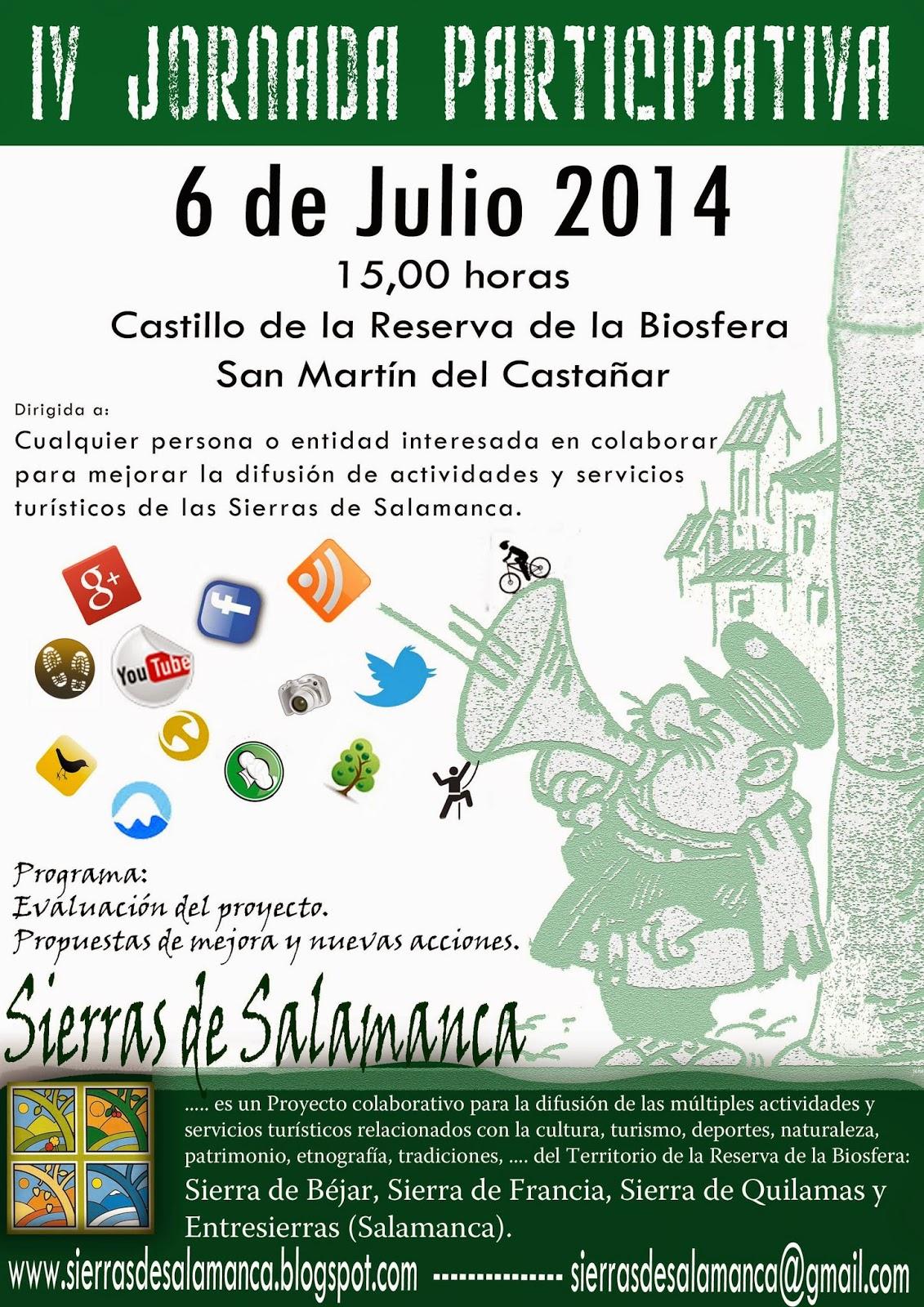 "IV Jornada Participativa ""Sierras de Salamanca"""