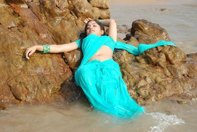 madhavi latha new beach hot images