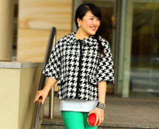 Houndstooth Jacket Green With Envy