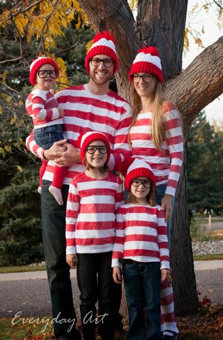 fun family halloween costume wheres waldo