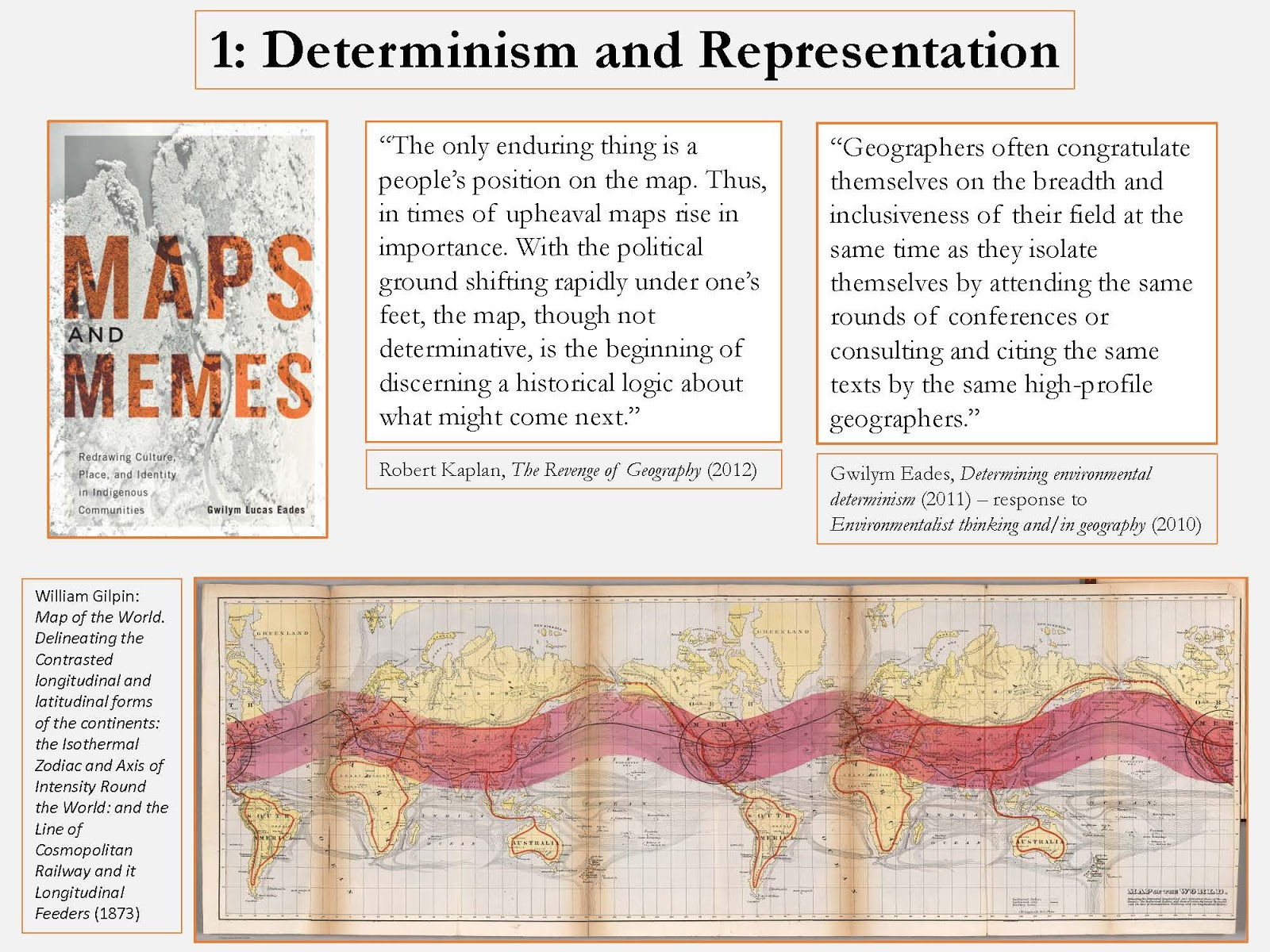 Geographic determinism significance