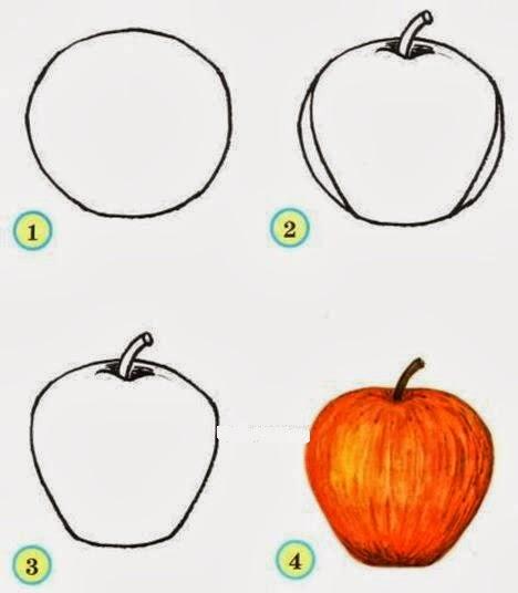 как нарисовать фрукты схема