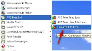 Cara Uninstal / remove program (aplikasi) di windows