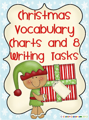 Free PDF Christmas Vocabulary Charts and Writing Tasks Clever Classroom