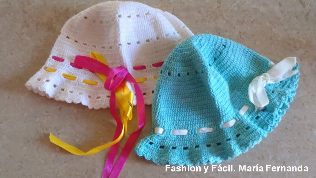 Fashion y Fácil : Gorros fáciles para niñas tejidos a ganchillo ...