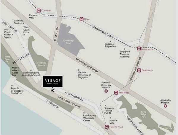 Village @ Pasir Panjang Location Map