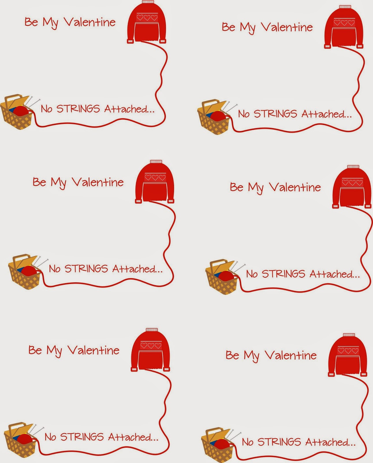 The Devilish Dish String Cheese Valentines – No Strings Attached Valentines Card