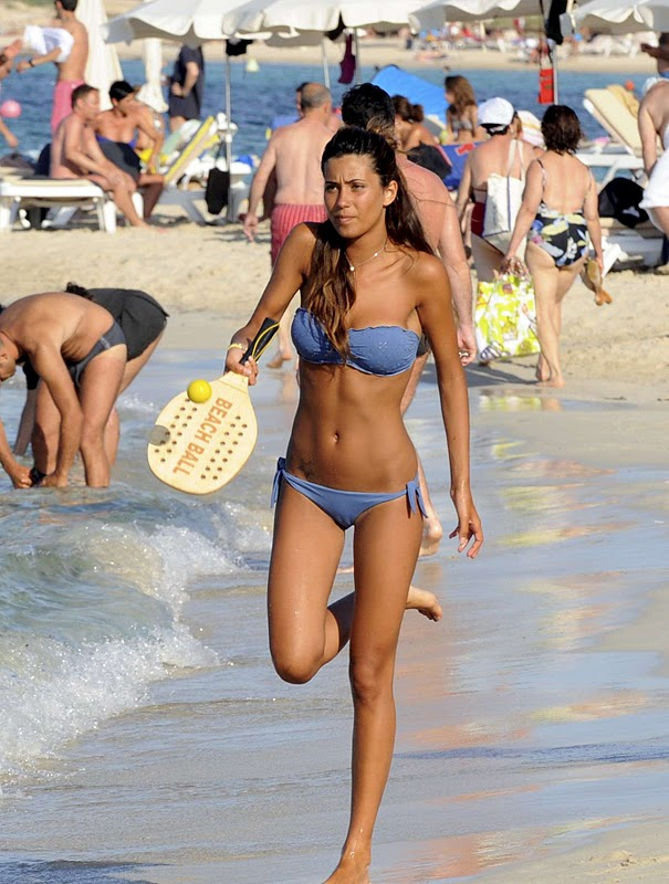 Federica Nargi on the beach
