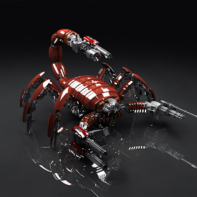 3D scorpion download free wallpapers for Apple iPad