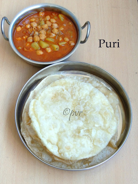 Pakistani Puri, Puffed flat bread