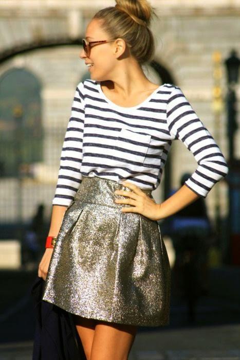 Stripes + Glitter.