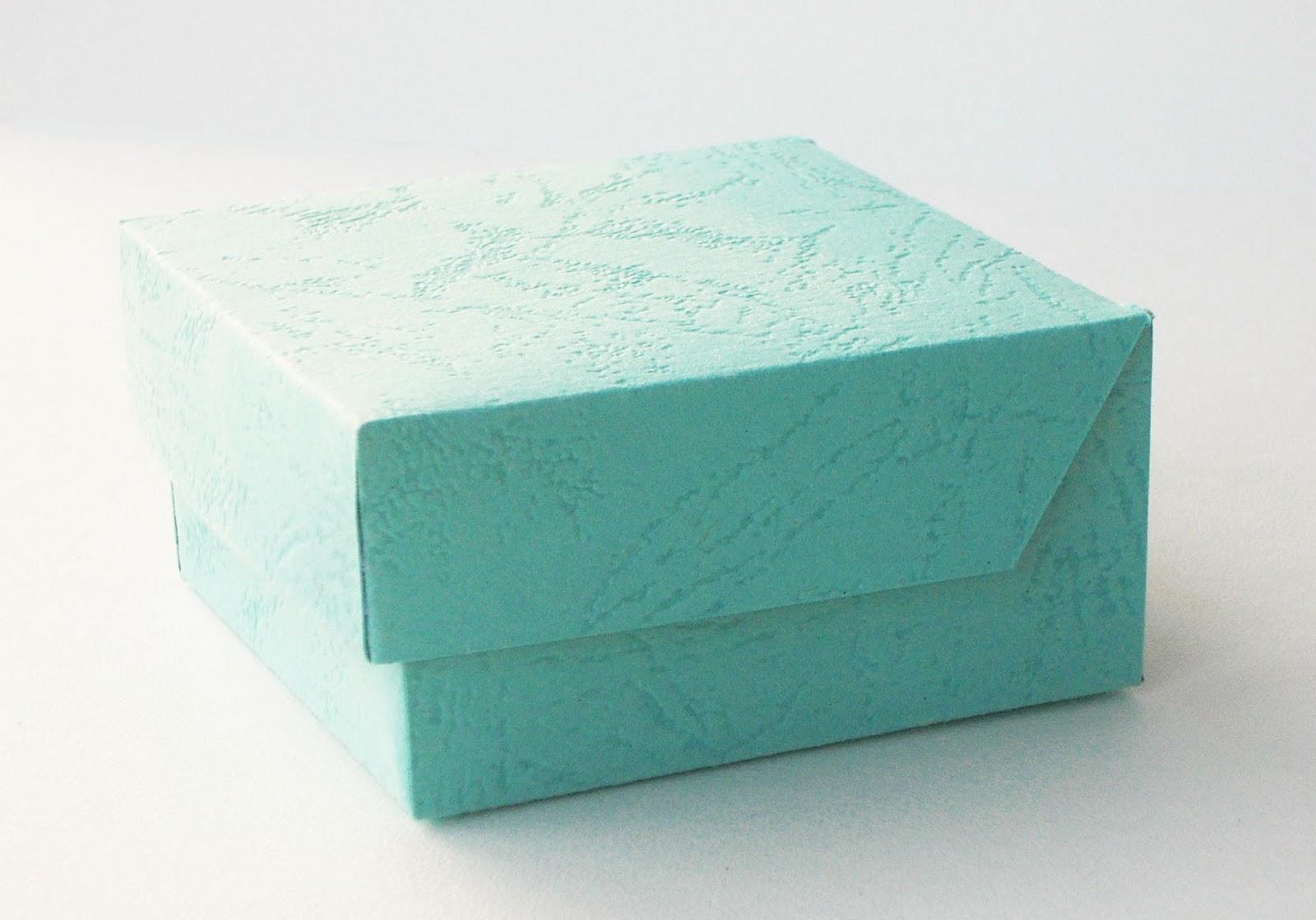 Коробка с крышкой для подарков своими руками