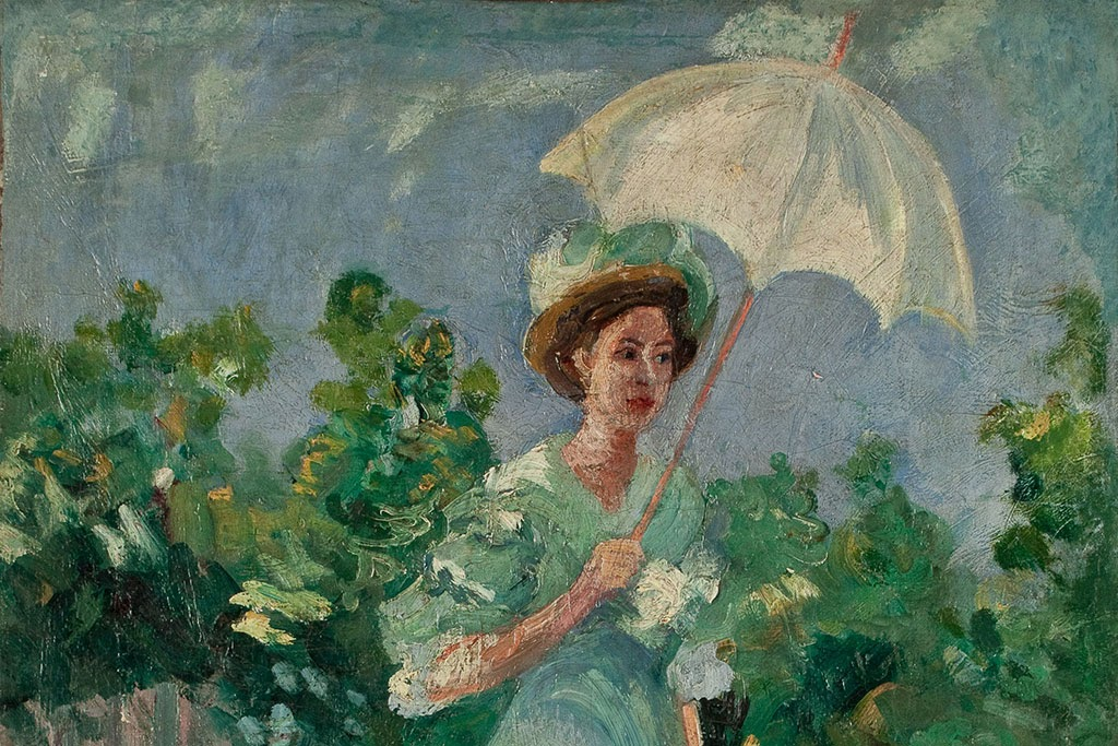 Nadezda Petrovic Lady With A White Parasol  detail