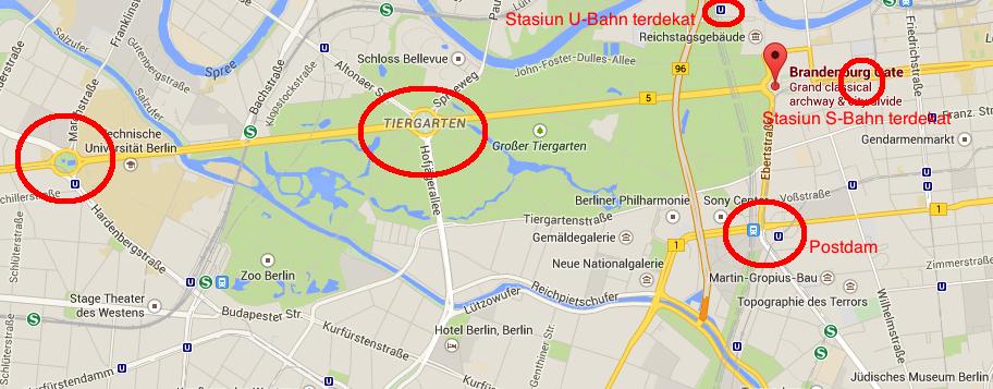 Peta Perayaan Tahun Baru di Berlin, Jerman