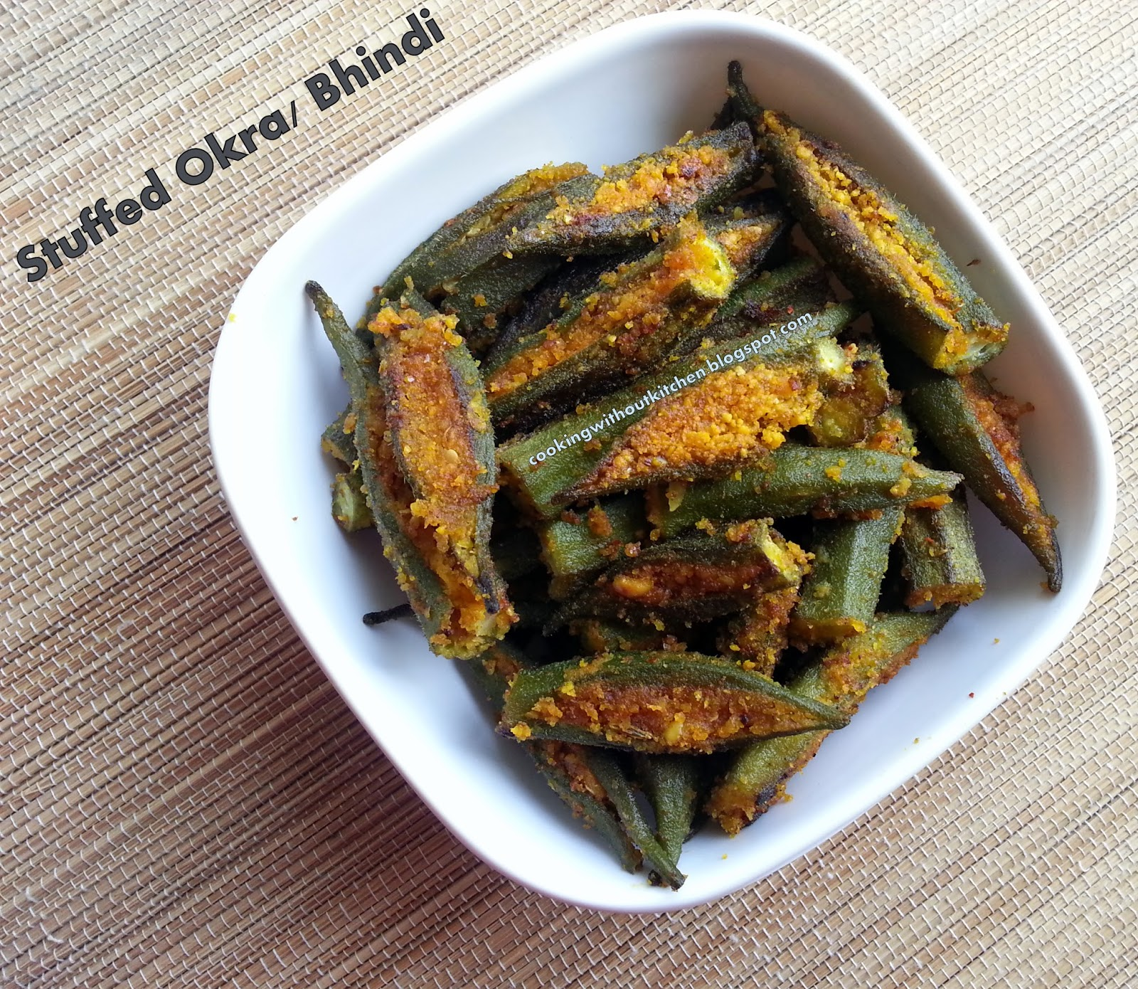 Cooking without kitchen okra with instant stir fry masala bharli cooking without kitchen okra with instant stir fry masala bharli bhindi forumfinder Image collections