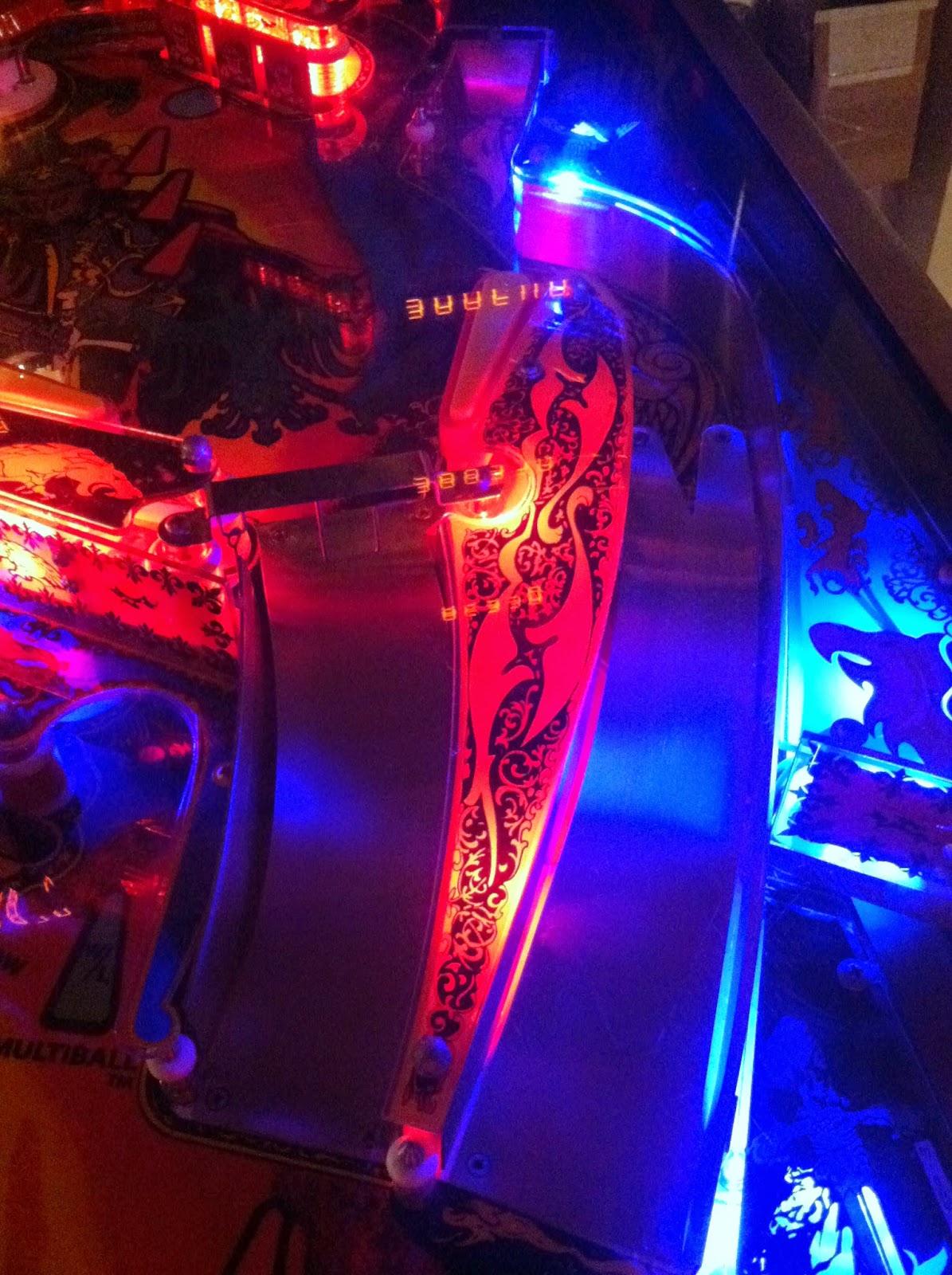 Led Ramp Under Koksskap : Pinball Aficionado The World of Modding!  Part 3 Lighting!!!