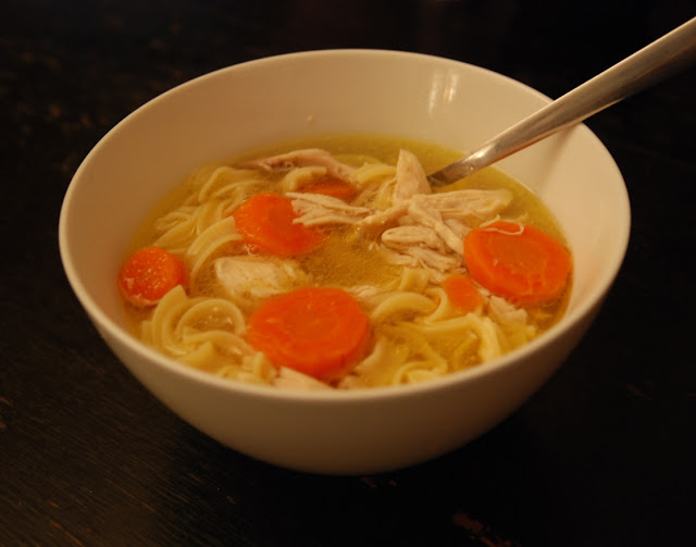 Homemade chicken noodle soup - perfect comfort food to wait out ...