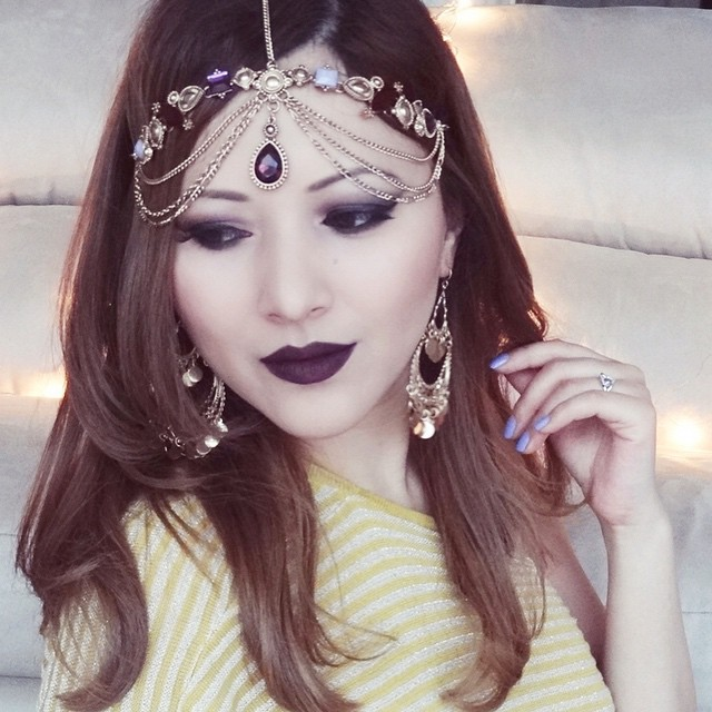 Indian Vanity Case: LOTD: Wintry Dark Lips