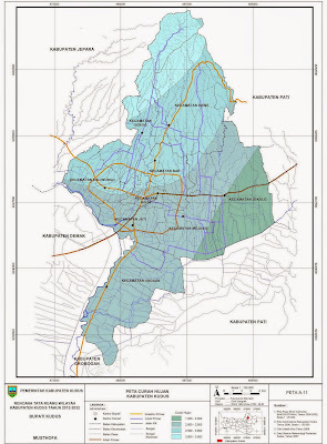 Peta Curah Hujan Kabupaten Kudus