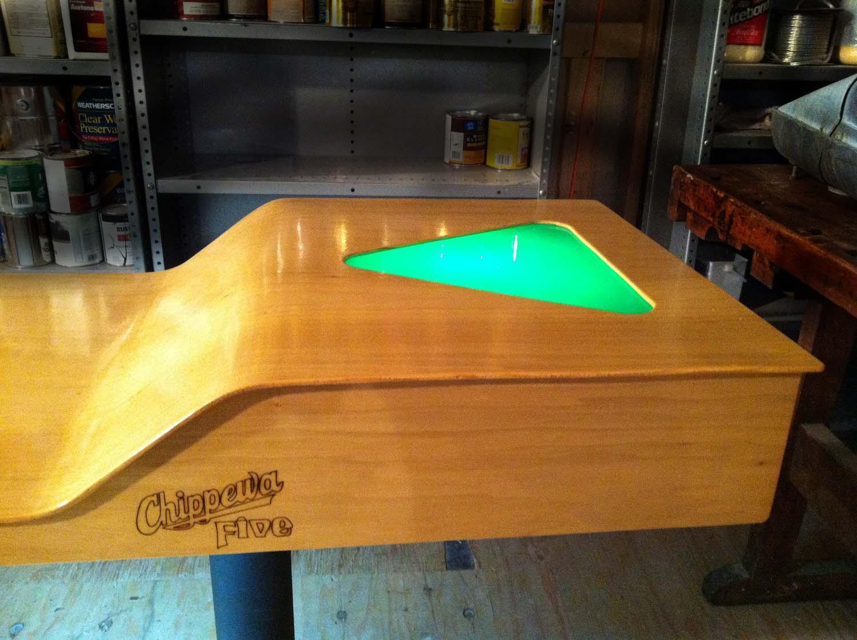 custom light up beer pong tables add a little taste to the. Black Bedroom Furniture Sets. Home Design Ideas
