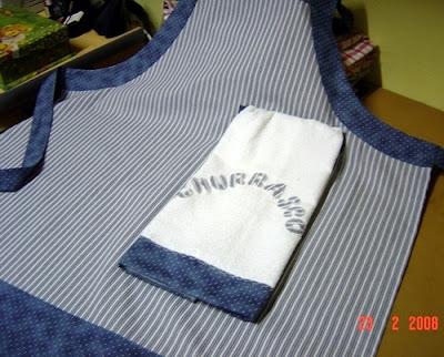 avental para churrasco em patchwork