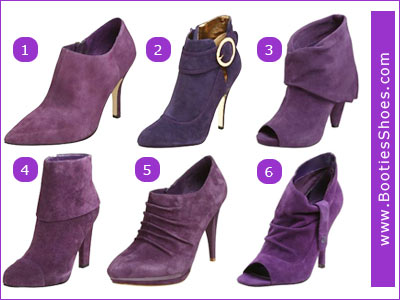 Suede Boots Purple5