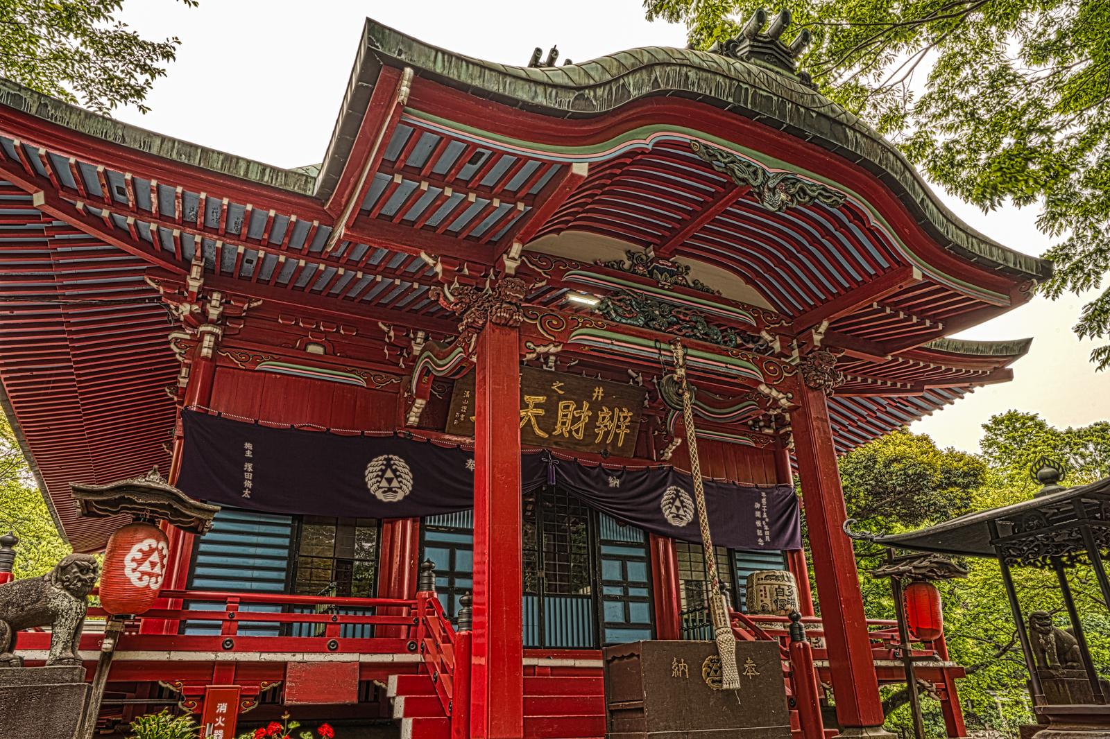 吉祥寺、井の頭恩賜公園にあるお寺、大盛寺(井の頭弁財天)のHDR写真