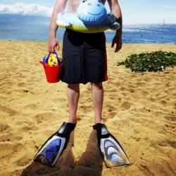homme sur une plage