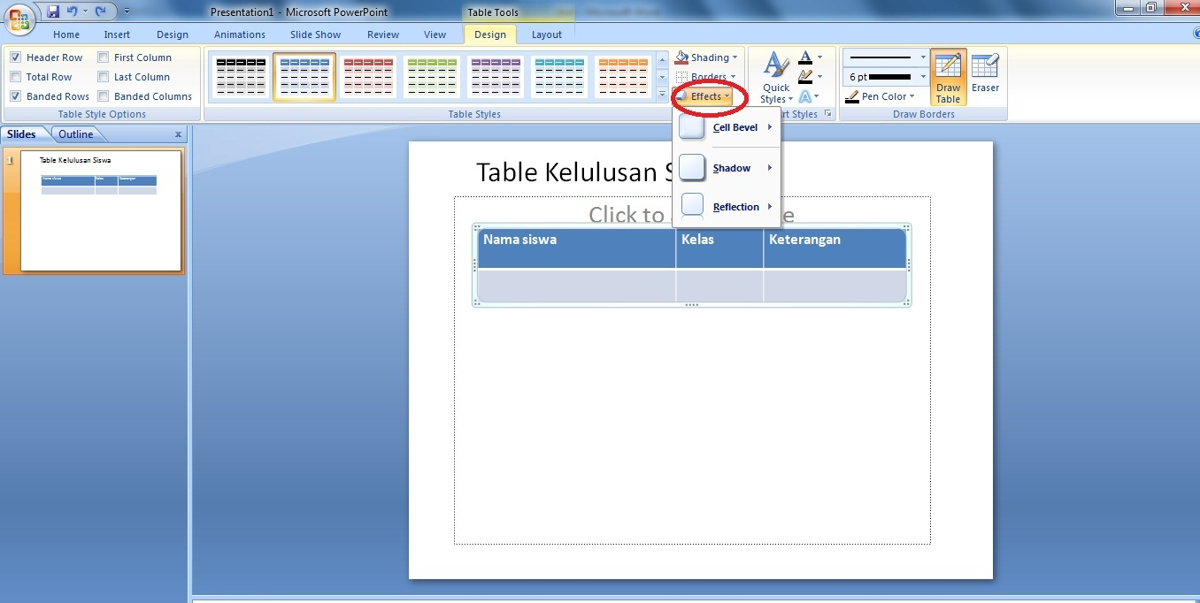 Cara Membuat Tabel di Power Point - Panduan Belajar Ms Office