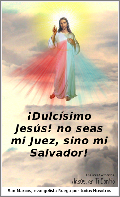 imagen con jaculatoria a jesus misericordioso