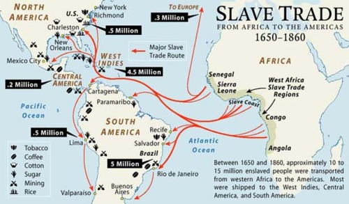 slave trade from africa to the americas 1650 1860 outflow of africans to the americas and europe this one is from an interesting blog about slavery