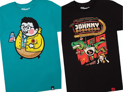 "Johnny Cupcakes x Jurassic World T-Shirt Collection - ""Big Kid Nerdy"" & ""Dinersaur"" T-Shirts"