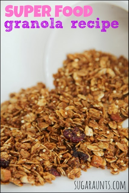 Granola recipe with super foods